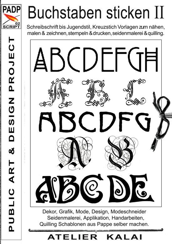 bol.com | PADP-Script 002: Buchstaben sticken II (ebook) adobe epub ...