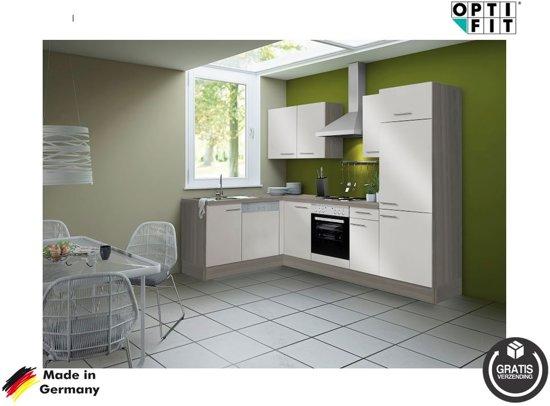 Keuken Wandkast 8 : Bol optifit hoek keuken visby compleet incl apparatuur