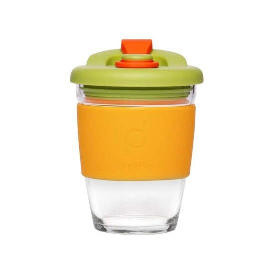 Herbuikbare Koffiebeker - 340ml - Autumn Orange - Glas - Pioneer