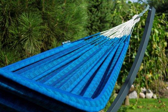 Potenza Grande Sky-stabiele en duurzame hangmatset 2 personen / tweepersoons hangmat met standaard uit Colombia (grafiet)