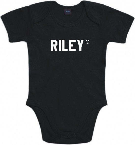 Baby rompertje Riley | Korte mouw 50/56 zwart