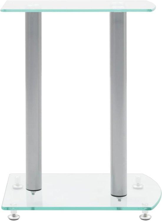 vidaXL Speaker standaard Vocal zwart glas 2 st
