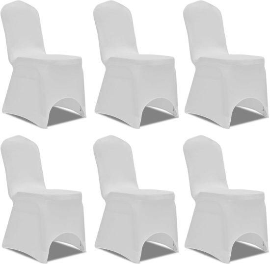 Welp bol.com | vidaXL Stoelhoes Stretch Wit (6 stuks) DY-59