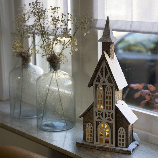 Kersthuisje Kerk LED