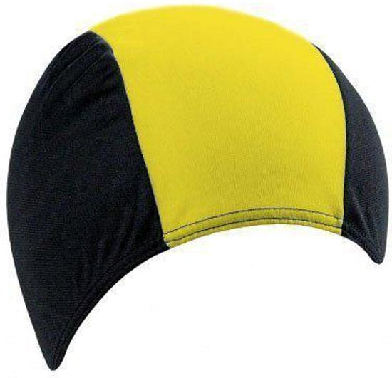 Badmuts zwart met geel