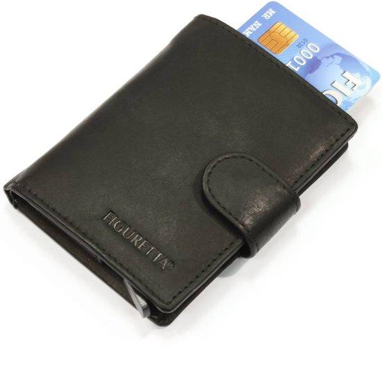 Figuretta RFID Card Protector - Creditcardhouder - Leer - Zwart