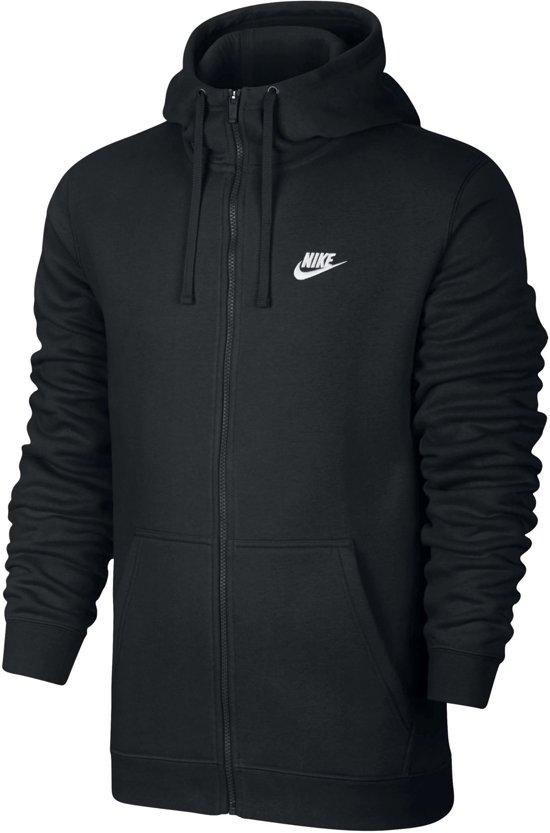 Nike Sportswear Club Hoodie FZ BB Hoodie Heren - Black/Black/White