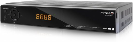 Amiko HD8260+ Satelliet Volledige HD Zwart TV set-top box