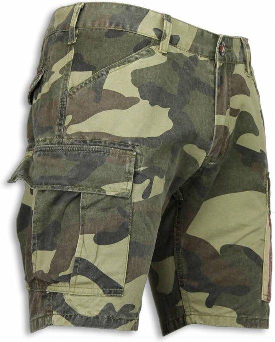 Korte Broek Legerprint Heren.Camouflage Buttons Heren Groen Maten Shorts Bread Licht Slim 30