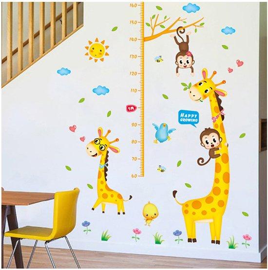 Muursticker Giraffe Kinderkamer.Bol Com Muursticker Groeisticker Voor Kinderkamer Groeimeter