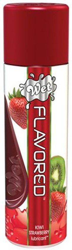 WET Flavored Kiwi Aardbei Glijmiddel 107ml