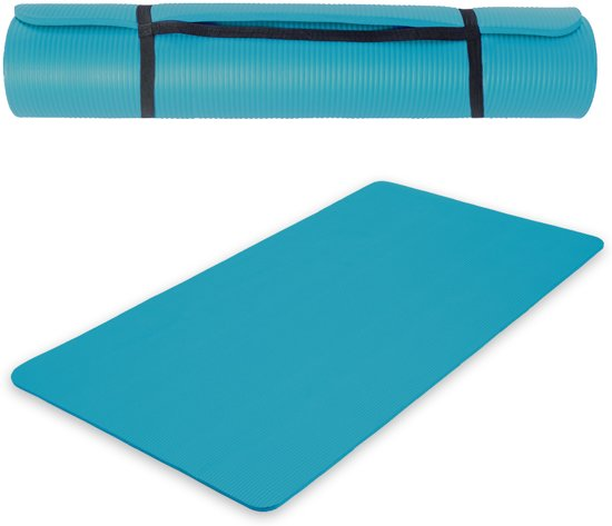 Tectake Fitnessmat - 190 cm x 100 cm x 1,5 cm - Blauw