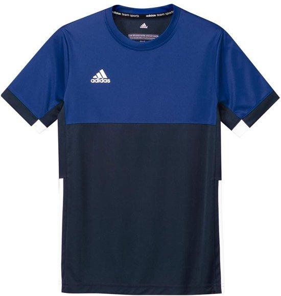 adidas T16 Short Sleeve Boys - Shirts  - blauw donker - 116