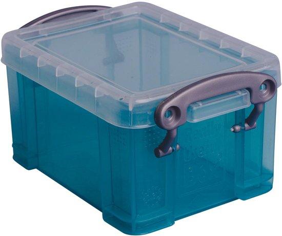 25x Really Useful Box 0,3 liter visitekaarthouder, transparant groen