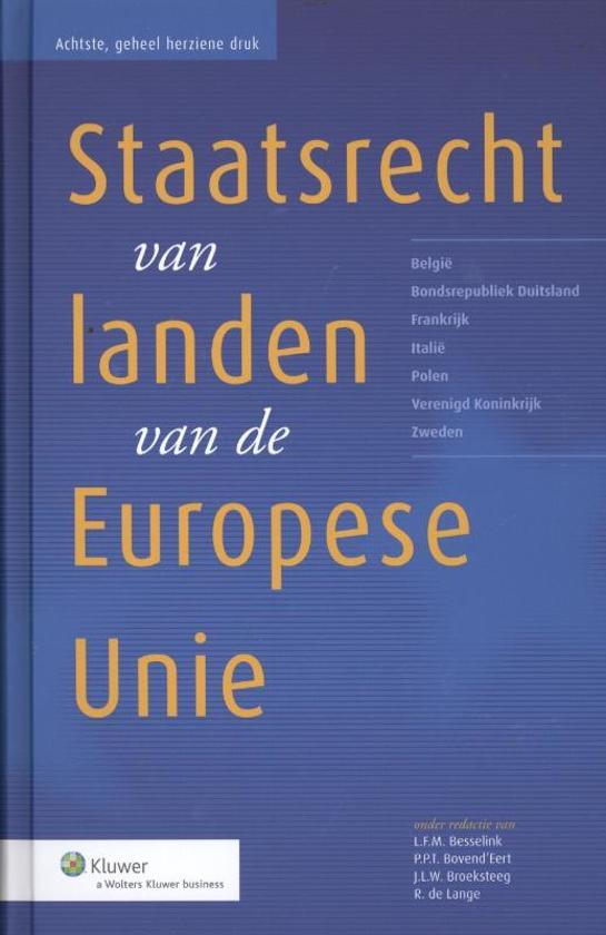 Boek cover Het staatsrecht van landen van de Europese Unie van  (Hardcover)