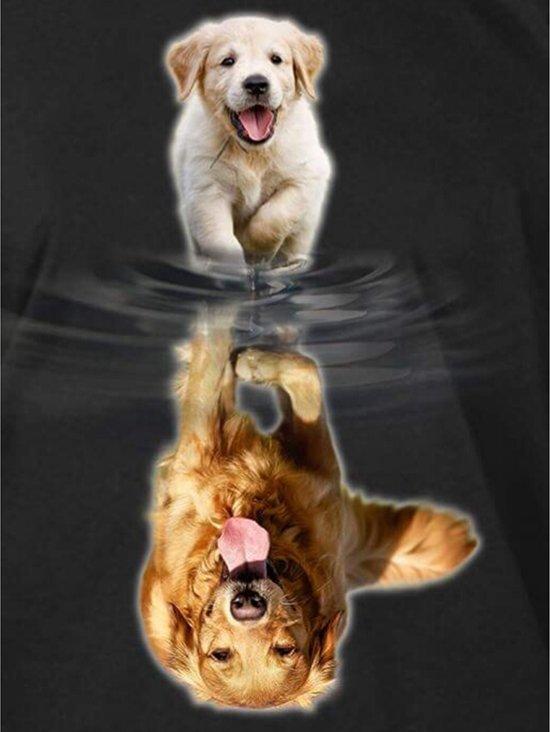 Diamond Painting Pakket Labrador van Pup naar Volwassen - Volledig - Full - 30x25cm - SEOS Shop ®