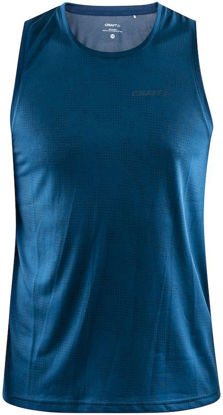 Craft Eaze Singlet M Sportshirt Heren - P Camo Nox