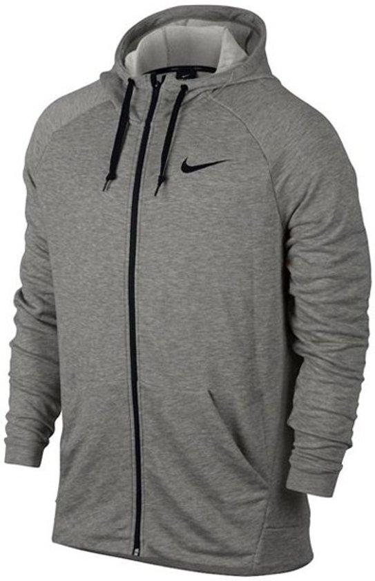 2180bd5a6032 Nike Dry Hoodie Fz Fleece Sportvest Heren - Grijs