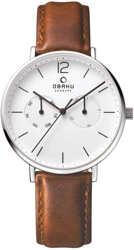 Obaku V182GM CWRN horloge heren - bruin - edelstaal