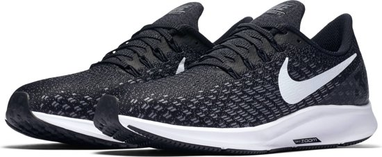 Nike Air Zoom Pegasus 35 Hardloopschoenen Heren - Black/White-Gunsmoke-Oil Grey
