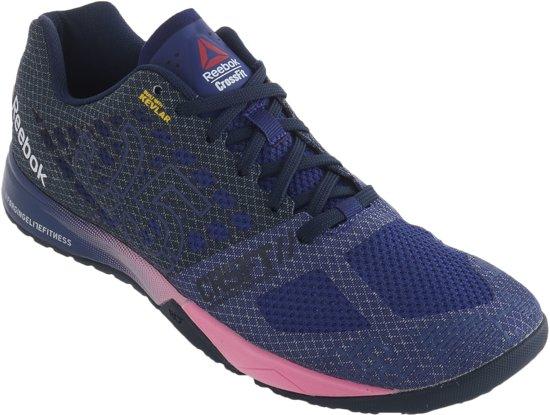 7f28db6f129 Reebok Crossfit Nano 5.0 Fitnessschoenen - Maat 37 - Vrouwen -  paars/grijs/roze