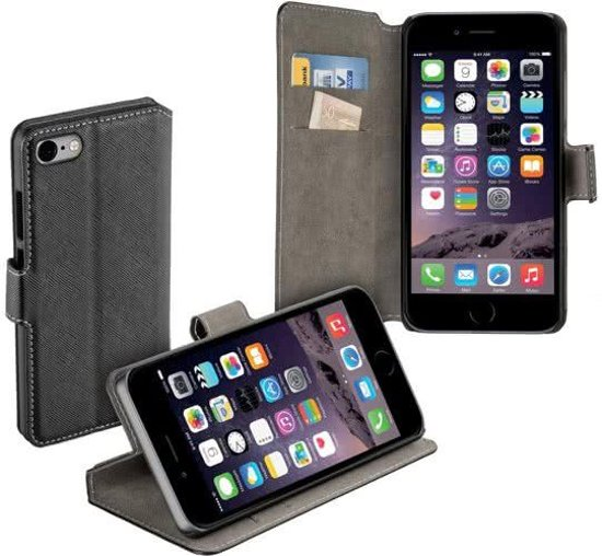 MP Case zwart book case style voor Apple iPhone 7 / 8  wallet case
