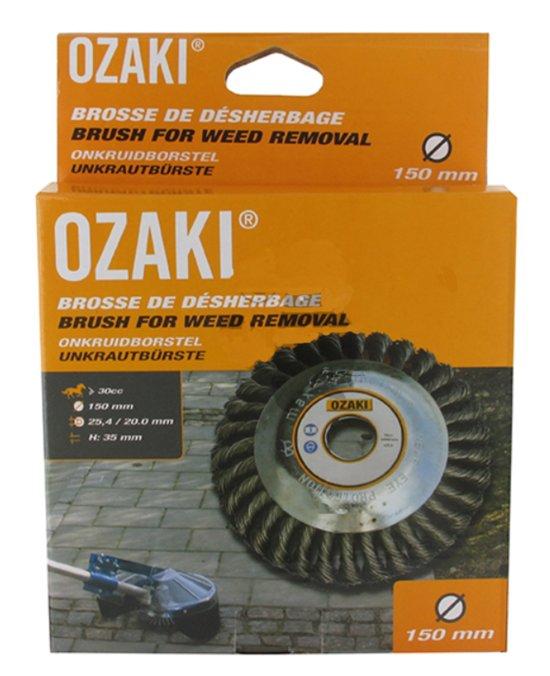Ozaki Onkruidborstel (Ø 150mm, H 65mm, boring 20/25,4 mm)