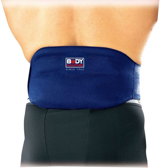 Body Sculpture - Waist-Middel Wikkel / Taille / Band Compres Met Hot / Cold Pack - Blauw