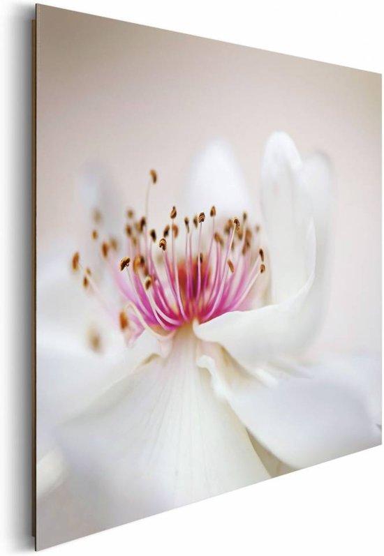 REINDERS Witte roos roze hart - Schilderij - 90x60cm