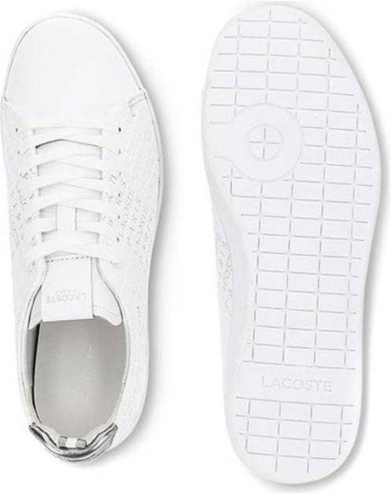Evo 119 Dames 11 Us Wit Zilver Carnaby Lacoste Sneakers Sfa IE2HYWD9