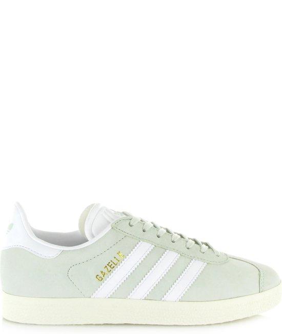 adidas gazelle wit met groene strepen