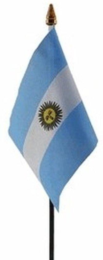 Argentinie mini vlaggetje op stok 10 x 15 cm