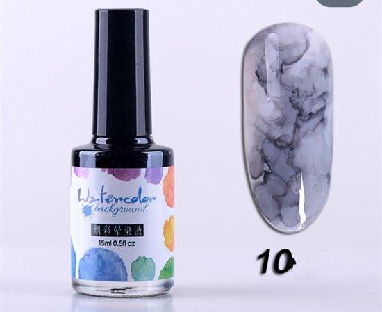 magic blossom gel nail polish watercolor zwart/grijs