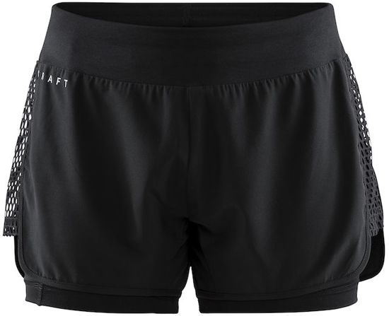 Craft - Charge 2-in-1 Shorts W - hardloop short - Zwart - XS