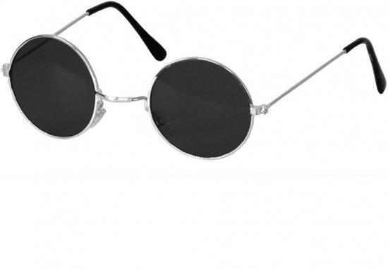 Zonnebril Met Kleine Ronde Glazen.Zwart Steampunk Bril Met Ronde Glazen