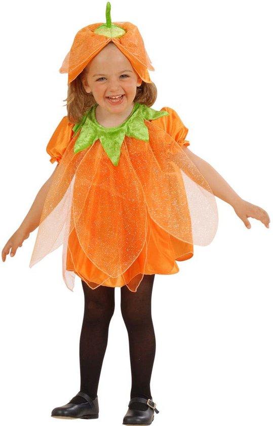 Halloween outfit pompoen met lovertjes voor kinderen - Verkleedkleding