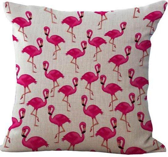 bol com   Flamingo kussen hoes   45 x 45 cm   Sierkussen kussenhoes   REBL