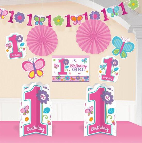 Bol Com 1 Jaar Versiering Meisje Eerste Verjaardag Decoratie