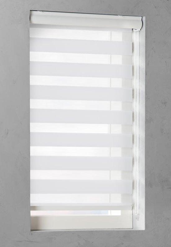 Duo Rolgordijn lichtdoorlatend White - 80x240 cm