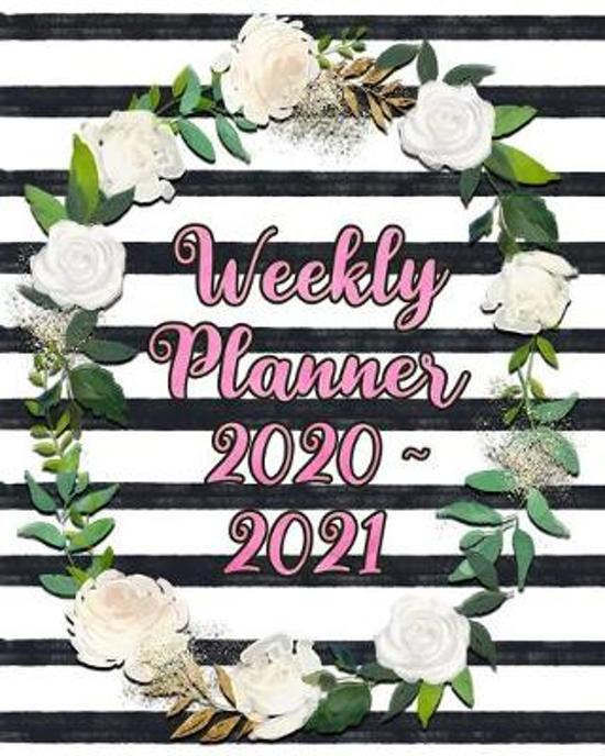 Weekly Planner 2020 - 2021: Two Year Weekly Planner: Jan 2020 - Dec 2021, 24 Month Weekly Daily Calendar Planner, Pink Black and White Planner wit