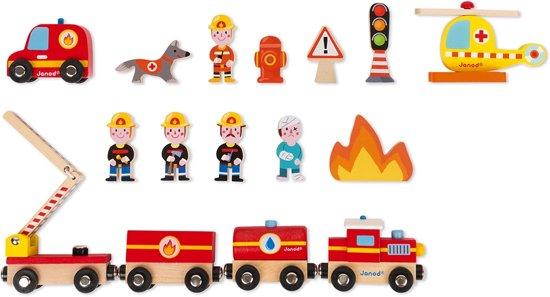 Janod Story Express Brandweer Treinset