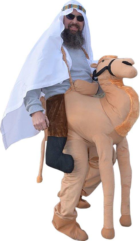 Afbeelding van Carnavalskleding - Kameel Instap Pak / Kostuum - Dierenpak - Unisex - One Size - Volwassen speelgoed