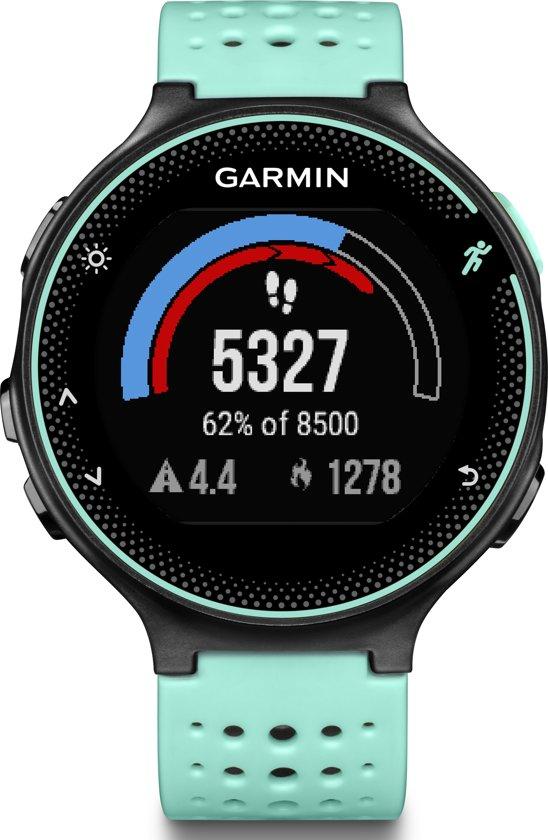 Garmin Forerunner 235 - GPS hardloophorloge met polshartslagmeter - Ø 45 mm - zwart/ ijsblauw