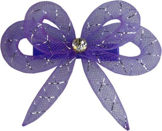 Jessidress Feestelijke Haarclip met haar strikje - Paars