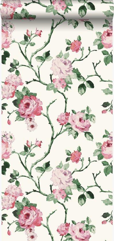Genoeg bol.com | Origin behang bloemen wit en licht roze - 347434 @UY43