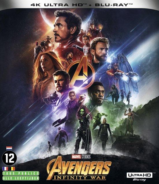 DVD cover van The Avengers: Infinity War (4K Ultra HD Blu-ray) (Import zonder NL)