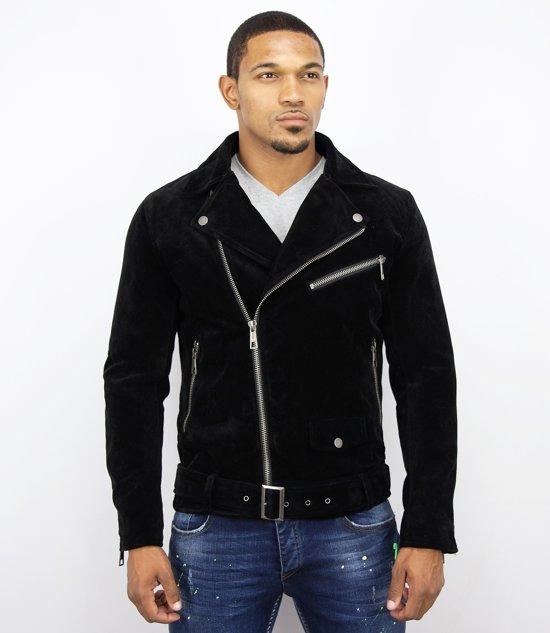 suede jasje zwart