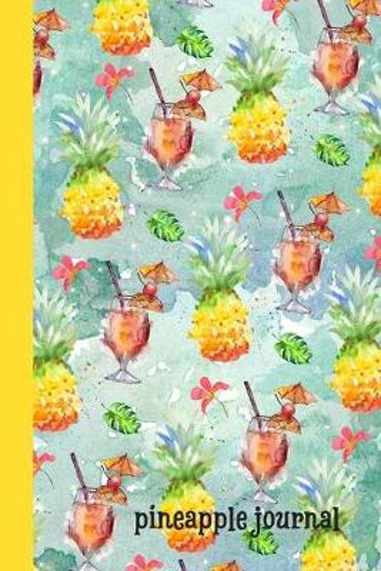Pineapple: Journal, Beautiful Watercolor Tropical Design, Lined Pages, Perfect For Everyday Use