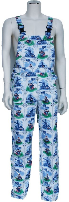 Yoworkwear Tuinbroek polyester/katoen hollandprint maat 46