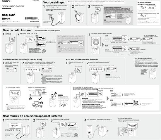 Sony XDR-V20D Draagbare DAB+ Radio
